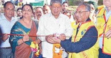 Uttarakhand CM Harish Rawat, PRIP Rajendra Saboo and Kedarnath MLA Shaila Rani Rawat at the inaugural ceremony.