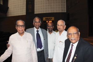 L to R: Dr H V Hande, PDGs S Krishnaswami, Vishwanatha Reddy, Rtn S L Chitale and PDG P V Purushothaman. Thirty years ago, the revolutionary groundwork spearheaded by Rotarians S L Chitale, Dr Jacob John, K C Vijayan, PDGs S Krishnaswami, P?V Purushothaman, Viswanatha Reddy and late V Chidambaram and Dr H?V Hande was recalled and applauded at this event.