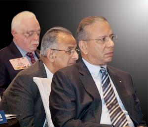(From Right) RI President K R Ravindran, PRIP Rajendra K Saboo, TRF Trustee Sushil Gupta.