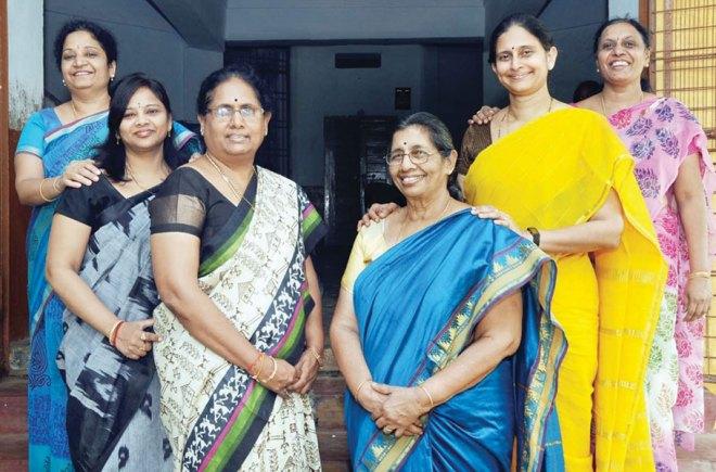 From L to R: B Rama Devi, M Sunita, Rajyalakshmi Vadlamani, Dr Kolli Sarada, Dr K Padmaja, M Madhavi.