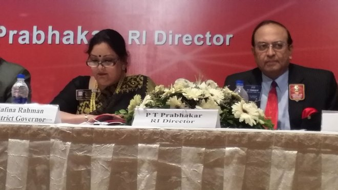 District Governor Safina Rahman of D-3281 organised an excellent Membership Development Seminar on September 5, 2014 at Dhaka, Bangladesh, with RI Director P.T. Prabhakar as Chief Guest. With the participation of a record 600 Rotarians, the seminar achieved its purpose of disseminating information on the RI Board's No.1 priority, which is membership development.