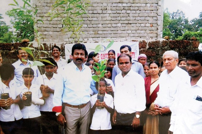 RC Cuttack Barabati RI District 3262 <br/> Over 200 saplings planted by students of Maa ­Bhagwati ­Vidyapitha School, Bhairpur.