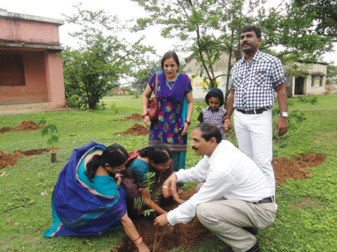 RC Keonjhar RI District 3250 <br/> Saplings were planted at Gujuri Sahi to promote a greener earth.