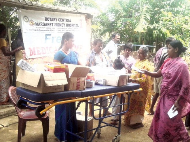 RC Madras Central RI District 3230 <br/> Medical camps conducted at Nanmangalam and Margaret Sidney Hospital, Nanganallur and over 150 patients benefitted from the camp.