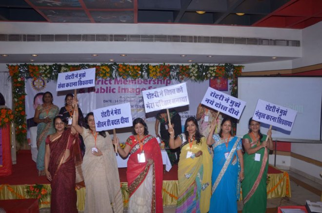 Women Rotarians' enthusiastic participation D-3053