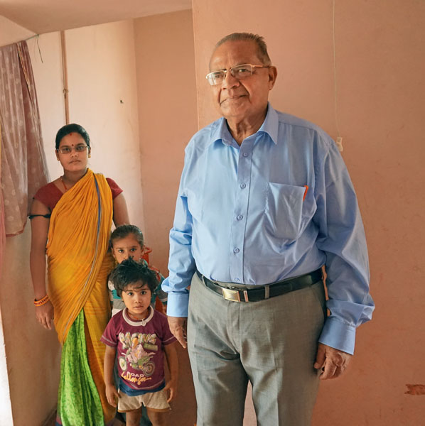 At a house built by Rotary in Nirona Village, about 45 km from Bhuj.