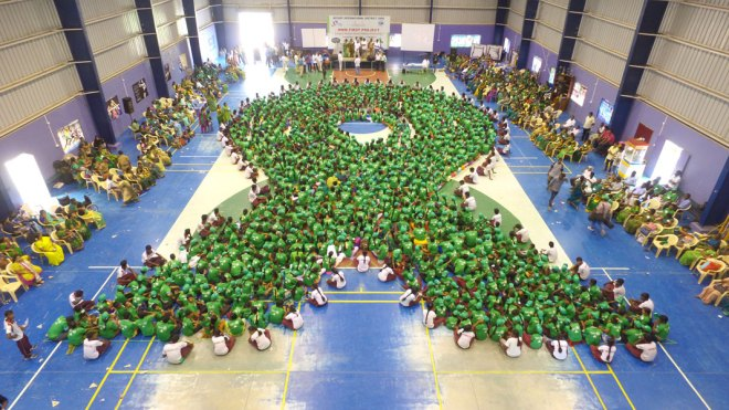 Largest Human Green Ribbon formation.