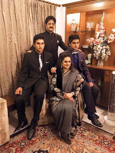 Rtn Mohan Bir Singh with his family.
