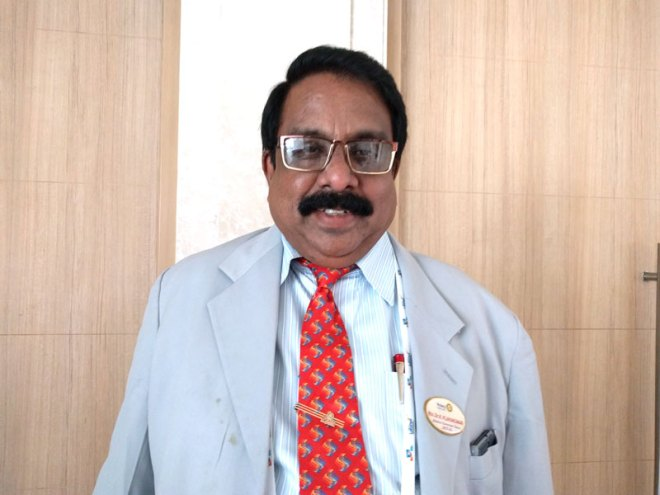 <strong>Dr K Vijayakumar</strong>, Physician, RC Marthandam, D 3212