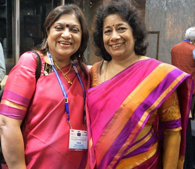 DG Shyamashree Sen with DGE Asha Prasanna Kumar.