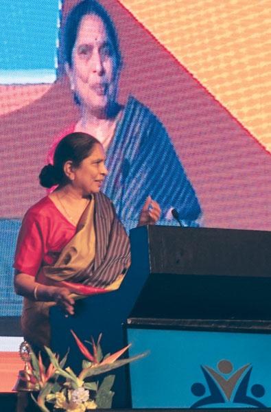 Magsaysay awardee Shantha Sinha, Founder, M V Foundation.