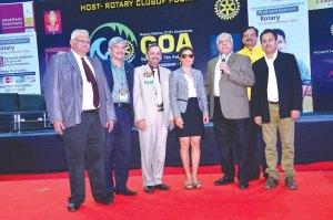 RIDE Manoj Desai announces Mary Kom as Brand Ambassador for RILM in the presence of DG Vivek Aranha, PDGs Vinay Kulkarni, Deepak Purohit, Deepak Shikarpur and Mahesh Kotbagi.