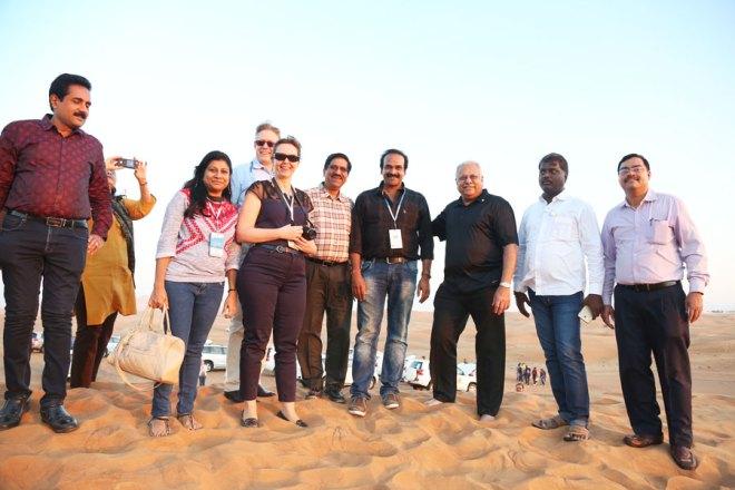 RID Manoj Desai with delegates at the Desert Safari.