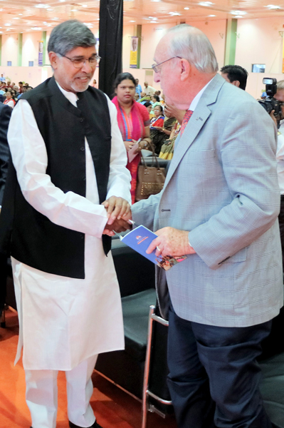 Nobel Peace Laureate Kailash Satyarthi with RI President John Germ.