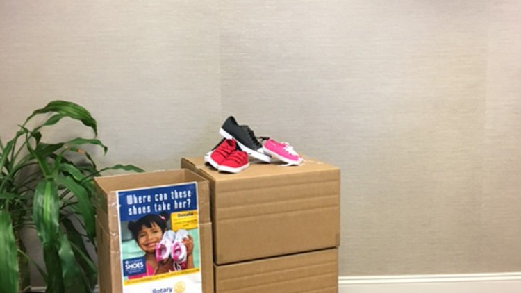 The Springfield Rotary Club is collecting shoes to be distributed to children in need in the United States and across the world.