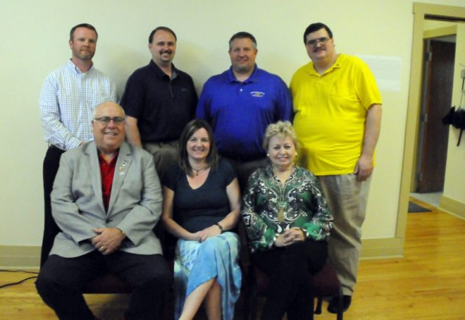 A new Rotary Club has formed in Parsons as a satellite group of the Tucker County Rotary Club. District Governor David Raese, front left, is shown here after welcoming the newest Rotarians to the Parsons Rotary Club. In back, from left, are Jonathan Hicks, Jason Myers, Patrick Darlington and Robert Burns. In front, from left, are Raese, April Miller and Dr. Cindy Kolsun.