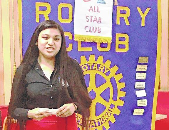 """Berenice Perez was recognised as """"Good Citizen of the Quarter"""" by the Rotary Club of King and is eligible to receive a $1,000 scholarship renewable for three years."""