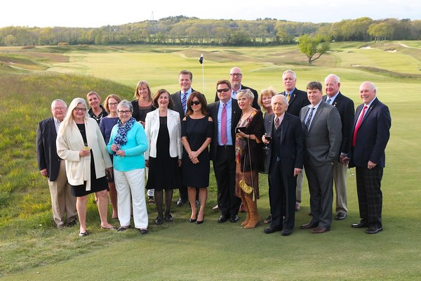 The office-bearers of East Hampton Rotary Club.