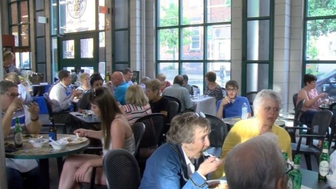 There was live music, a silent auction and a wide variety of food for sampling at Centre Market event.