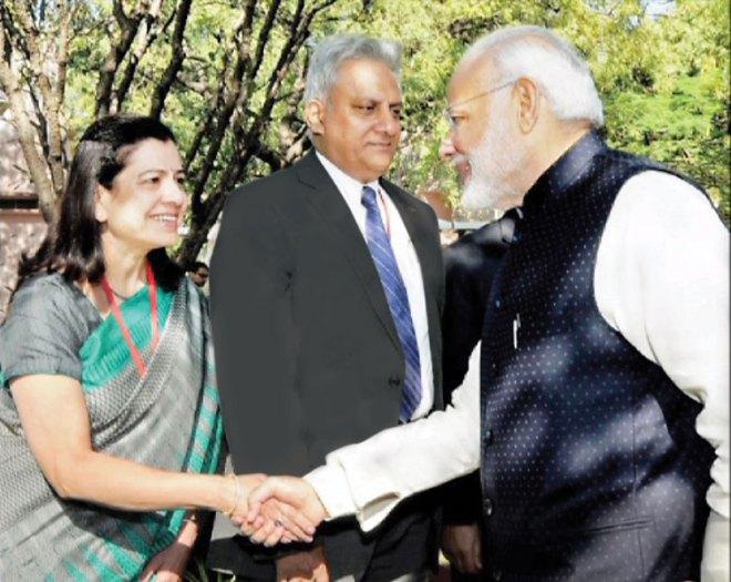 With Prime Minister Narendra Modi.