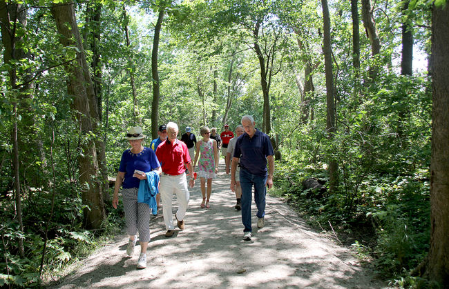 The Chatham Rotary Club held a grand opening for the completed second phase of the Rotary Eco-Trail located within the O'Neill Nature Preserve in Chatham on Saturday. Photo: Trevor Terfloth