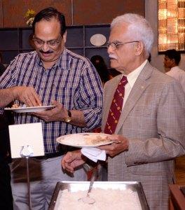 The Raja-Raju pair: Institute Chair Raja Ramakrishnan and DGE C R Raju.