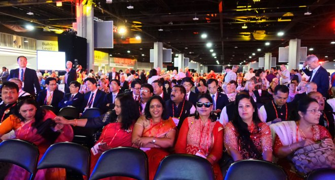 Women in red: Spouses of Indian DGs at the Convention