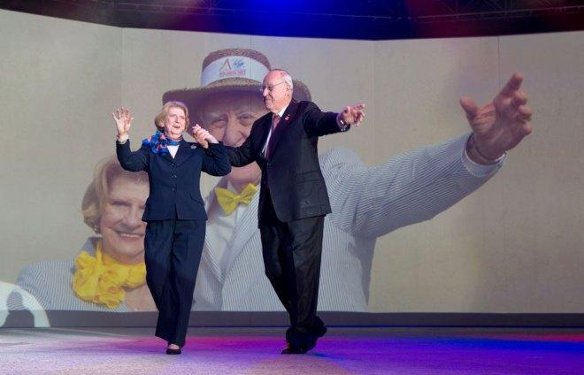 RI President John Germ and spouse Judy