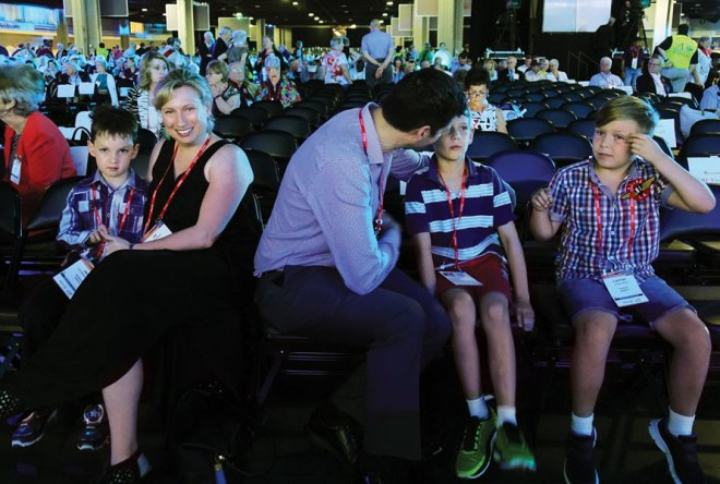 RIPE Ian Riseley's daughter Jill and her husband Scott and grandchildren Jack, Will and Lachlan at the Convention