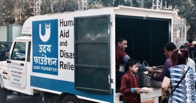 Uday Foundation's food delivery vehicle.