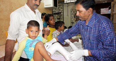 Little Mohasin Malik (4) gets a PoP cast for a relapse of clubfoot as he discontinued the earlier treatment.