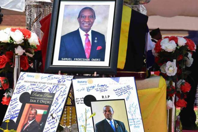 Tributes pour in from Rotary clubs.
