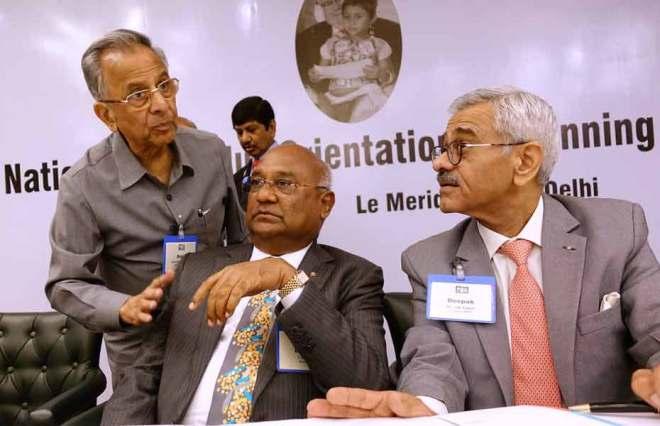 From L: PRIP Rajendra K Saboo, RID C Basker and INPPC Chair Deepak Kapur.