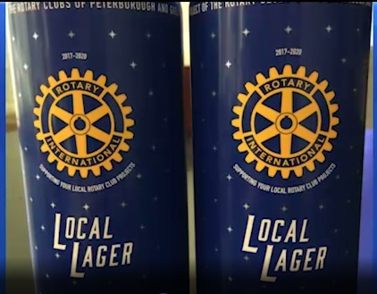 Rotary clubs in Peterborough and Guelp have launched the official Rotary beer as a fundraising project.