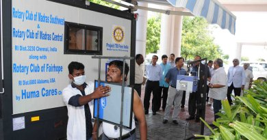 Patients-being-screened-on-site-at---the-Police-Campus