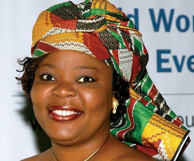 Liberian peace activist Leymah Gbowee.
