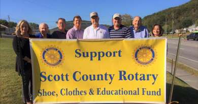 The Scott County Rotary Club kicked off its annual shoe drive on Friday. Donations will be used to purchase shoes for needy children in Scott County schools.