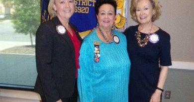 (From Left) Jennifer Powell, Joyce Aigen and Myrna Ballard pioneered female membership in Valdosta Rotary. Photo: Submitted