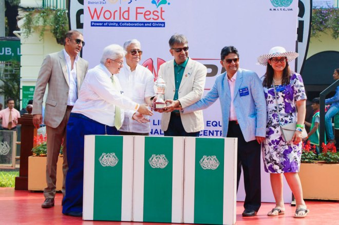 DG Prafull Sharma presenting the cup at one of the races.