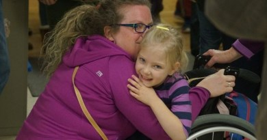 Students at Huntsville Public School celebrated the announcement of $40,000 from the Rotary Club with cheering, applauding and hugs. Photo: Roland Cilliers/Metroland