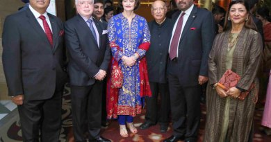 L to R: RILM Chair and PRID Shekhar Mehta, TRF Trustee Sushil Gupta, Loomba Foundation President Cherie Blair, Lord Loomba, Former Chief of Army Staff General Joginder Jaswant Singh and his spouse Anupama Singh.