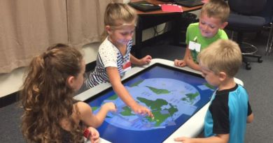 The Charleston Rotary Club used some foundation money in a district grant to help provide Smart Tables to local kindergarten students. Photo: Submitted