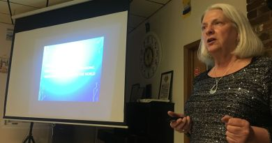 Barbara Rahn addressing members at the Maysville Rotary Club. Photo: Christy Howell-Hoots