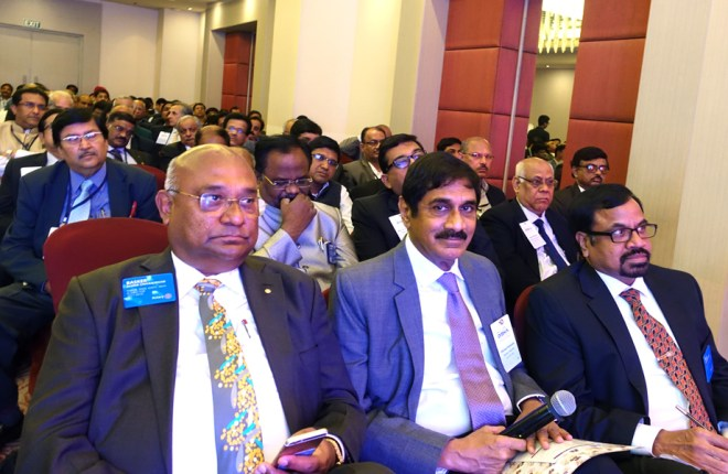 From L: RID C Basker, Disha Chair Sam Patibandla and RPIC Raja Michael.