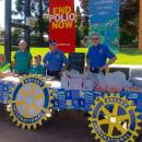 A Rotary street stall for End Polio Now