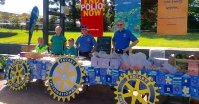 Tenterfield Rotarians will again be out on the street on March 29 to man the club's Easter stall. Photo: Submitted
