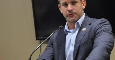 Congressman Adam Kinzinger, R-Channahon, speaks during the Rotary District 6420 conference at Faranda's Banquet Centre in DeKalb. Photo: Barry Schrader/Shaw Media