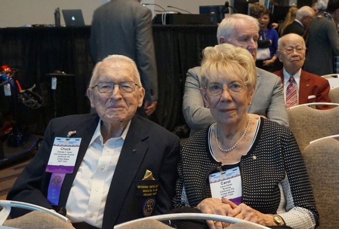 PRIP Charles Keller and spouse Carol at the 2017 International Assembly in San Diego.