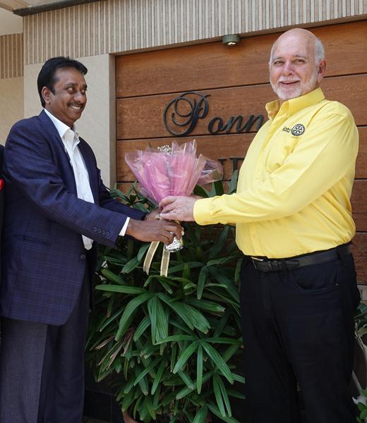 With D 3232 DG R Srinivasan in Chennai.