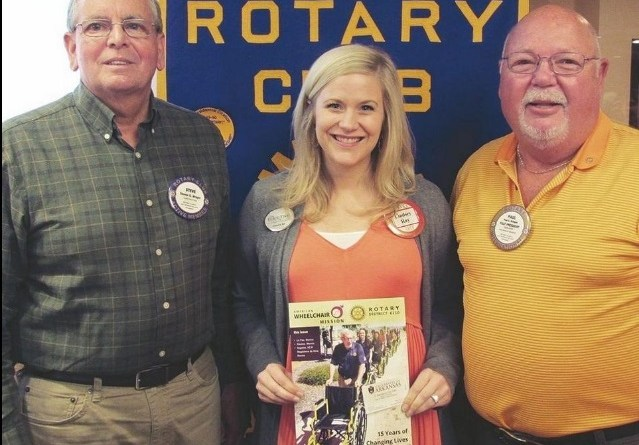 From left: HSV Rotary President Steve Wright with Rotarians Lindsey Ray and Paul Bridges.